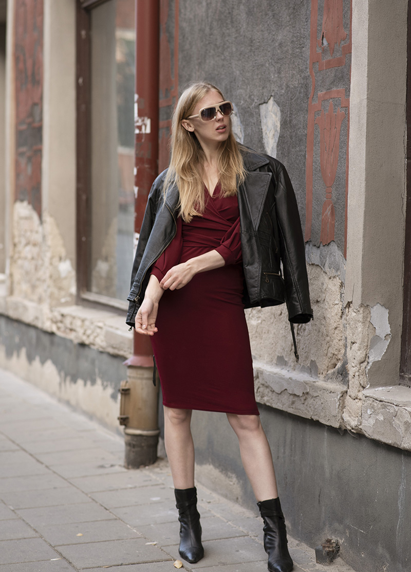 ivoblog -- burgundy dress